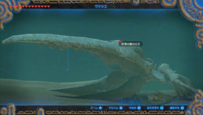 ブレスオブザワイルド 巨大クジラの化石 ゲルド