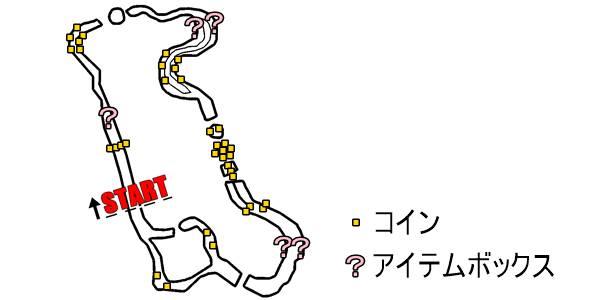 マリオカート8_Wii グラグラかざん