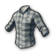 pubg skin Checkered Shirt (White)