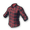 pubg skin Checkered Shirt (Red)