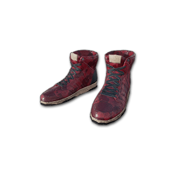 PUBG_Red-Hi-top-Trainers