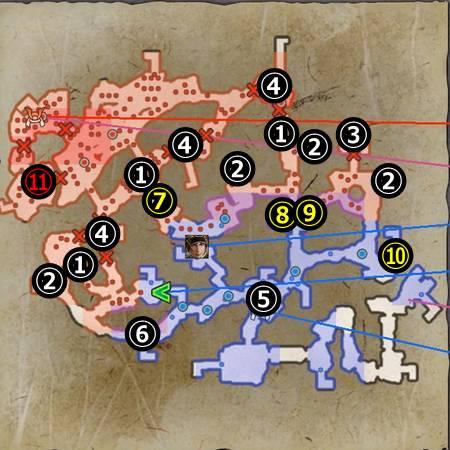 月山富田城の戦い_マップ