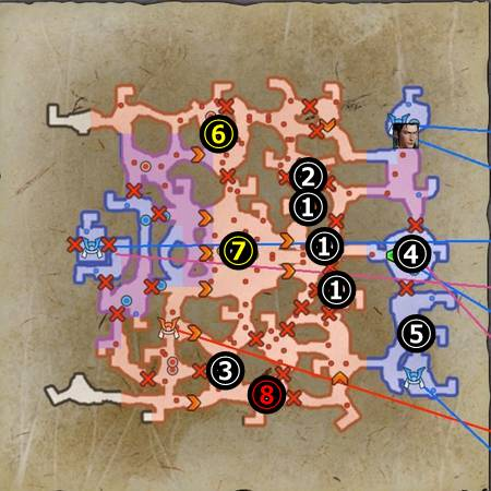 上月城の戦い_マップ