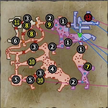 山崎の戦い_マップ