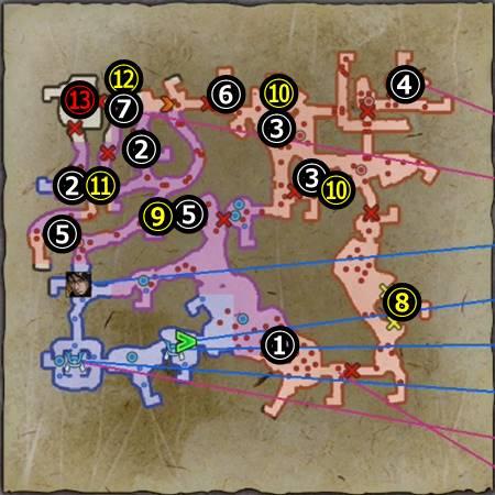 山崎の戦い羽柴軍_マップ
