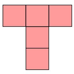 T字5マス桃