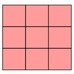 四角9マス桃